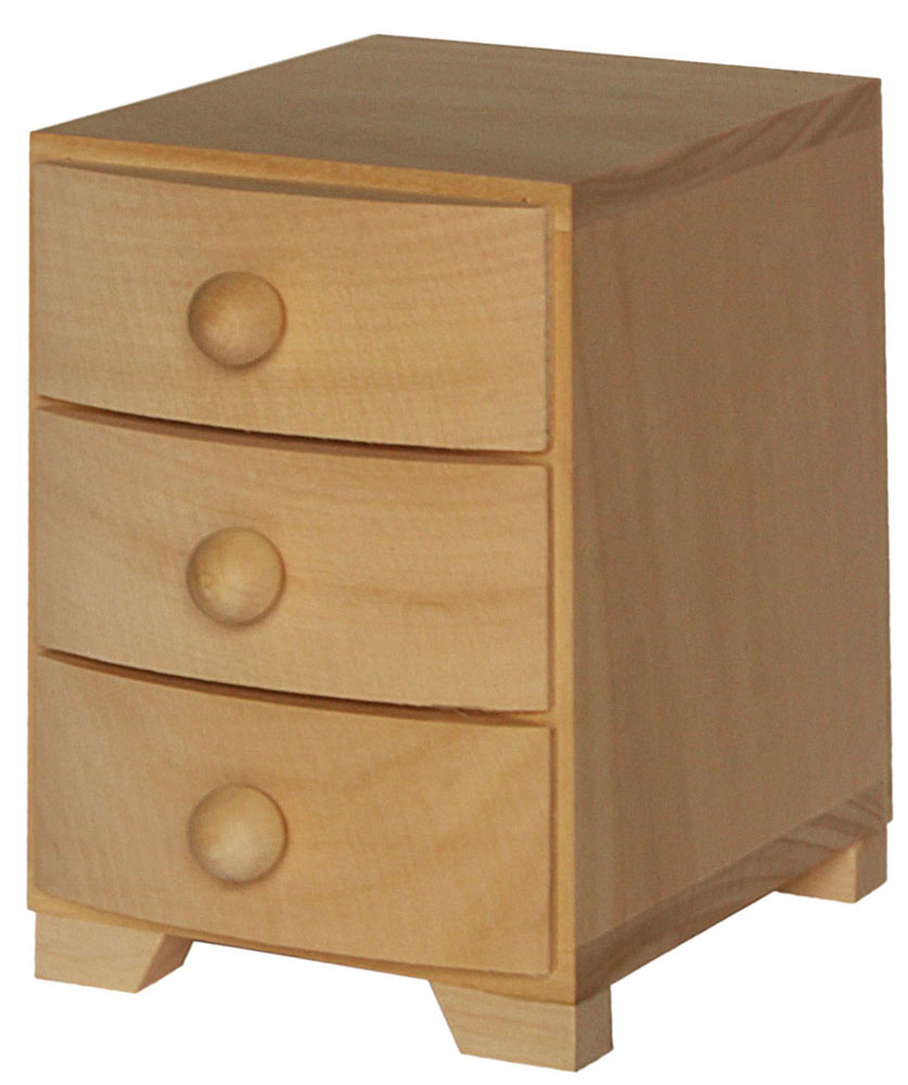 Pine wood drawer chest of drawers